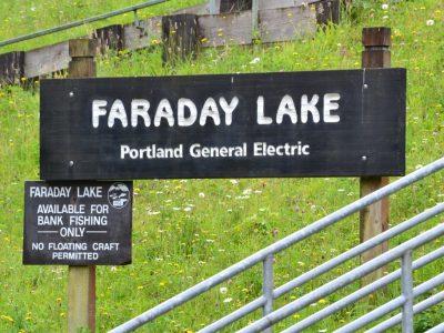 faraday lake sign